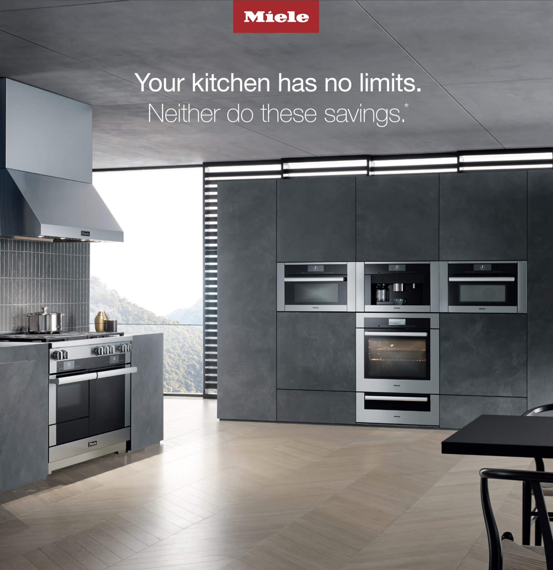 Save 10% on a Miele kitchen package